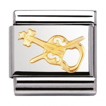 Nomination Classic Gold Violin Charm