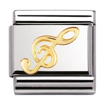 Nomination Classic Gold Treble Clef Charm