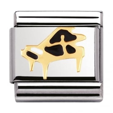 Nomination Classic Gold and Enamel Piano Charm