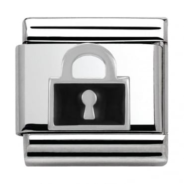 Nomination Classic Silver Daily Life Black Padlock