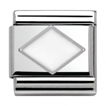 Nomination Classic Silver Daily Life White Rhombus