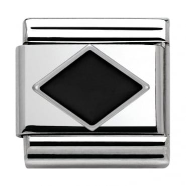 Nomination Classic Silver Daily Life Black Rhombus