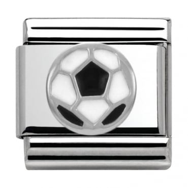 Nomination Classic Silver Daily Life Black and White Football