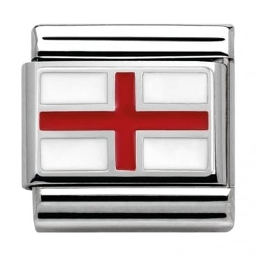 Nomination Classic Silver Daily Life England Flag
