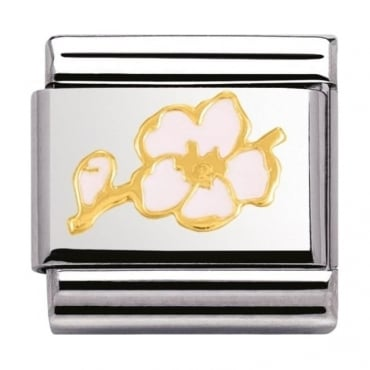 Nomination Classic Gold Peach Blossom Charm - 03027805