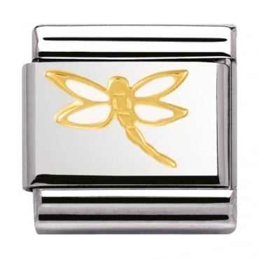 Nomination Classic Gold Dragon Fly Charm - 03027807