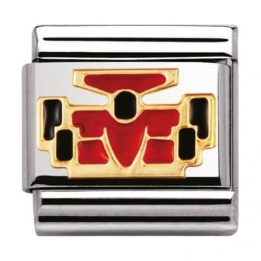Nomination Classic Gold and Enamel Formula 1 Charm