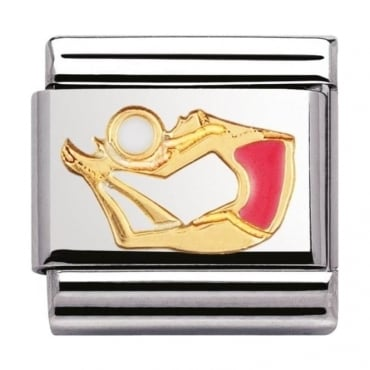 Nomination Classic Gold Gymnast Charm - 03020336