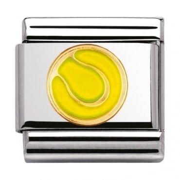 Nomination Classic Gold and Enamel Tennis Charm