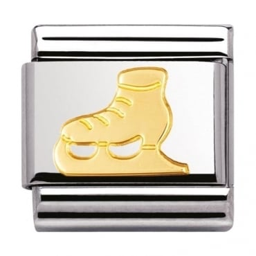 Nomination Classic Gold Ice Skating Charm