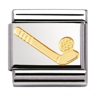 Nomination Classic Gold Golf Charm