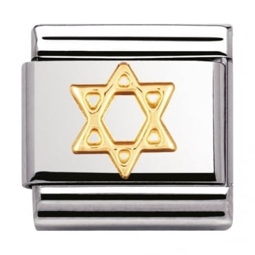 Classic Gold Star Of David Charm - 03010505