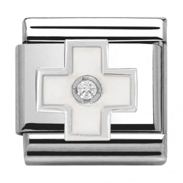 Classic Silver Daily Life White Cross