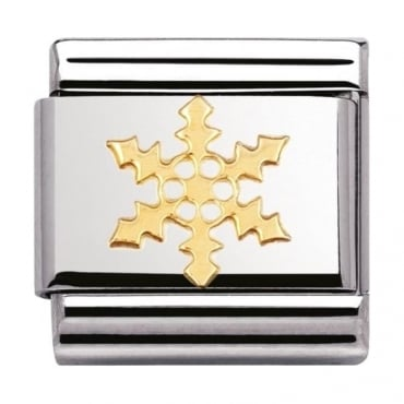 Nomination Classic Gold Snowflake Charm