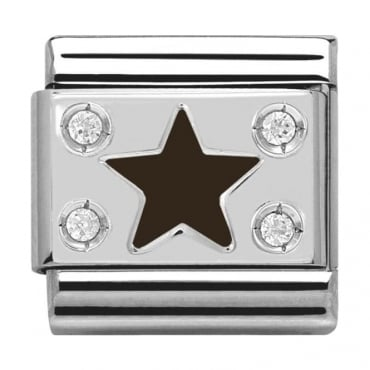 Classic Silver Daily Life Black Star