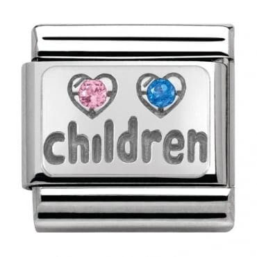 Classic Silver My-Family Children Pink & Blue