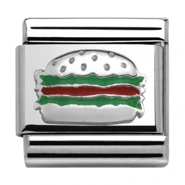 Classic Silver Around The World Hamburger