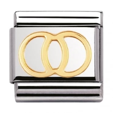 Nomination Classic Gold Wedding Rings Charm - 03010921