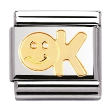 Nomination Classic Gold OK Charm