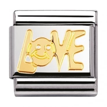 Nomination Classic Gold Love Charm