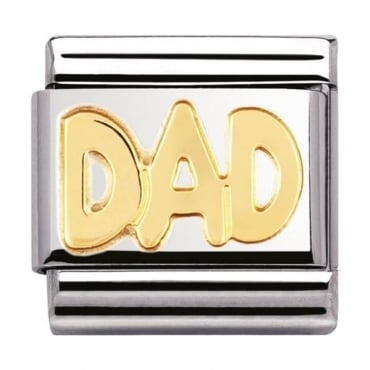 Nomination Classic Gold Dad Charm - 03010711