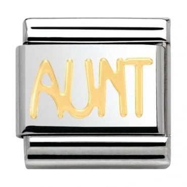 Nomination Classic Gold Aunt Charm
