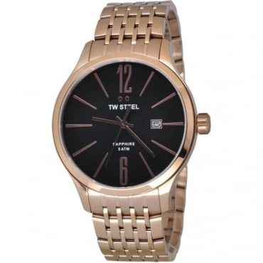EX-DISPLAY Mens Rose Gold Slime Line Watch