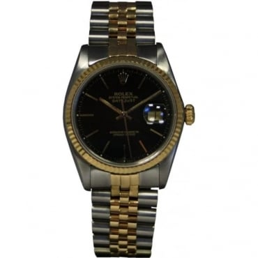 pre owned rolexes used rolex watches finance available from pre owned rolex men s bi metal datejust watch