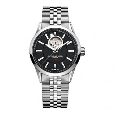 Raymond Weil Freelancer Automatic Black Dial Stainless Steel Men's Watch 2710-ST-20001