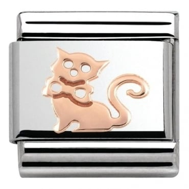 Nomination Classic 9k Rose Gold Cat Charm
