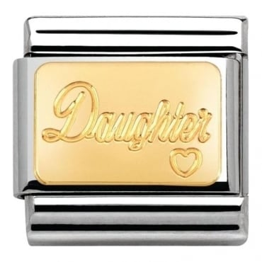 Nomination Classic Engraved 18k Gold Daughter