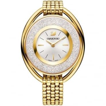 LADIES CRYSTALLINE OVAL GOLD TONE BRACELET WATCH 5200339
