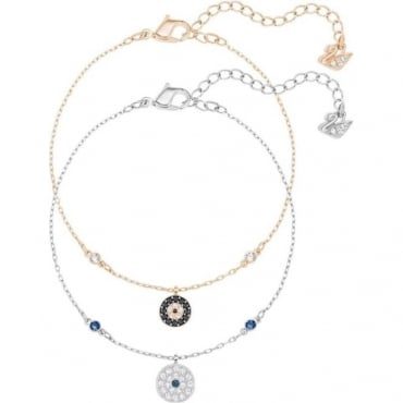 Swarovski Crystal Wishes Evil Eye Bracelet Set