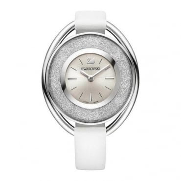 Swarovski Crystalline Oval White Watch 5158548