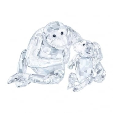 Swarovski  Chimpanzee Mother with Baby - 5063689