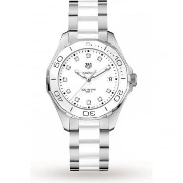 Tag Heuer Ladies Ceramic Aquaracer Watch WAY131D.BA0914