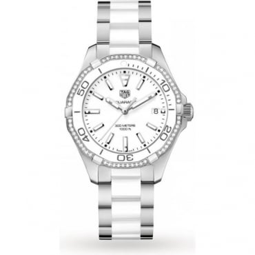Tag Heuer Ladies Ceramic Aquaracer Watch