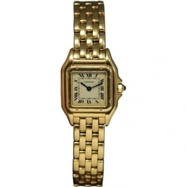 Pre-Owned Cartier Ladies 18ct Yellow Gold Panthere Watch