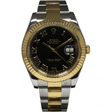 Pre-Owned Rolex Men's Bi-Metal DateJust II Watch
