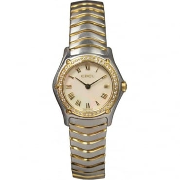 Pre-Owned Ebel Ladies Bi-Metal Diamond Wave Watch