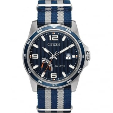 Citizen Mens Eco-Drive NATO Strap Watch - AW7038-04L