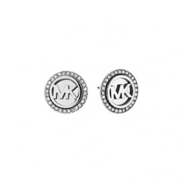 Michael Kors Jewellery MK Logo Silver Stud Earrings