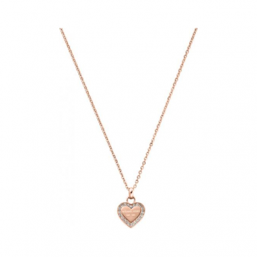 Michael Kors Jewellery Rose Gold Heritage Heart Pendant - MKJ3971791
