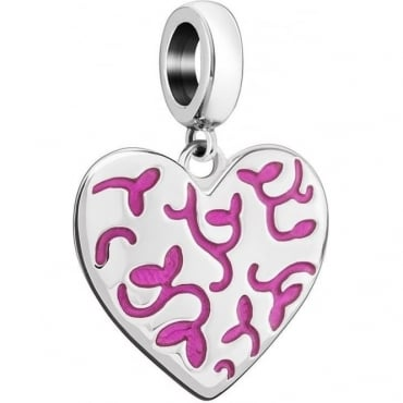 Chamilia Floral Engraved Heart 2020-0999