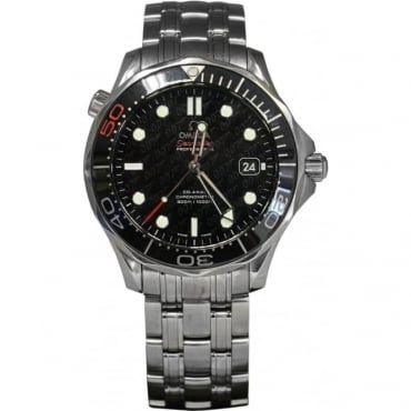 Pre-Owned Omega Men's Stainless Steel Seamaster 50th Anniversary James Bond Watch