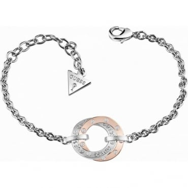 Guess Jewellery E-motions Two Tone Circle Bracelet