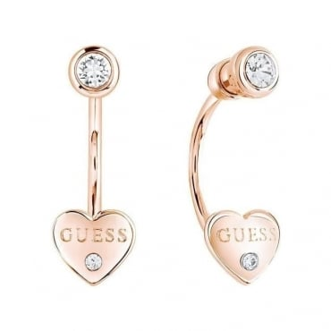 Guess Jewellery Ladies Guessy Earrings - Rose Gold