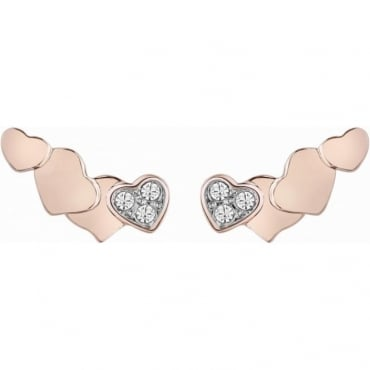 Guess Jewellery Rose Gold Tenderness Earrings