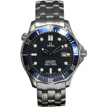Pre-Owned Omega Men's Stainless Steel Seamaster, Quartz Movement.