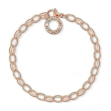 Rose Gold Charm Club Bracelet - Medium